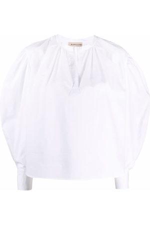 BLANCA Puff-sleeve cotton blouse