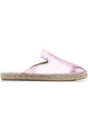 MANEBI Almond toe backless espadrille sandals