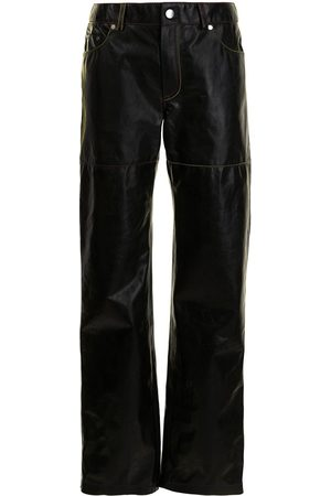 Peter Do Contrast-stitching leather trousers