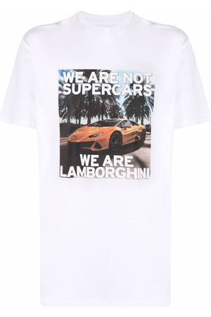 AUTOMOBILI LAMBORGHINI Graphic-print cotton T-shirt