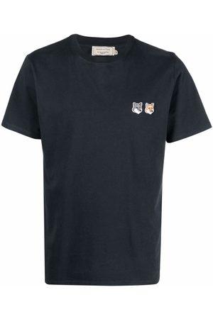 Maison Kitsuné Double fox-patch cotton T-shirt - Grey