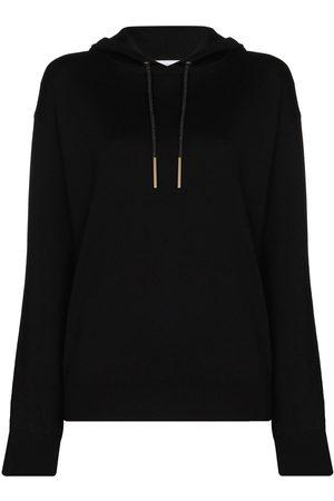 Olivia von Halle Lurex-detail long-sleeve hoodie