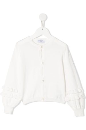 MONNALISA Frill-trimmed cotton cardigan