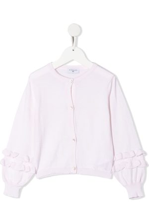 MONNALISA Frill-trimmed cotton cardigan