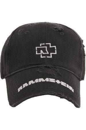 Balenciaga X Rammstein embroidered-design cap