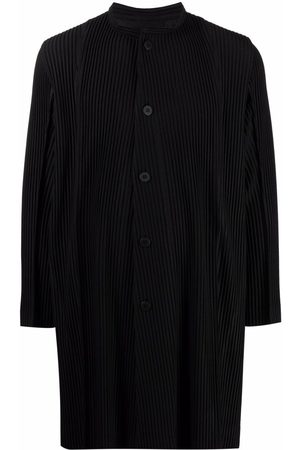 HOMME PLISSÉ ISSEY MIYAKE Buttoned-up pleated coat