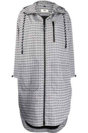 Fendi FF logo-print raincoat