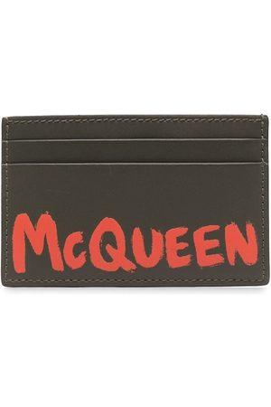 Alexander McQueen Graffiti logo-print cardholder