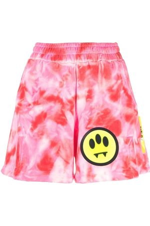 BARROW Tie-dye slit shorts
