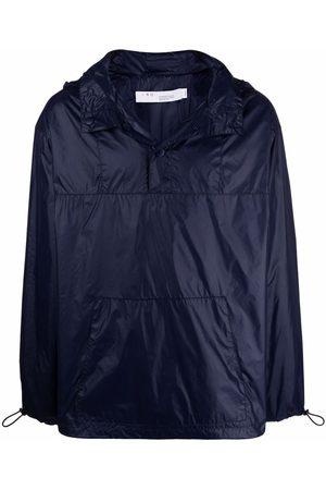 IRO Button-placket lightweight hoodie