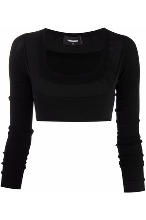 Dsquared2 Knitted U-neck crop top