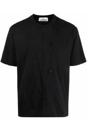 Stone Island Zip-pocket short-sleeve T-shirt