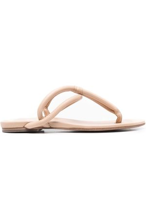 ROBERTO DEL CARLO Padded leather sandals - Neutrals