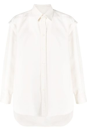 VALENTINO Layered-detail long-sleeve shirt - Neutrals