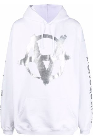 Vetements Anarchy Gothic logo-print hoodie