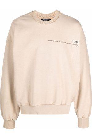 VAL KRISTOPHER Logo-detail sweatshirt - Neutrals