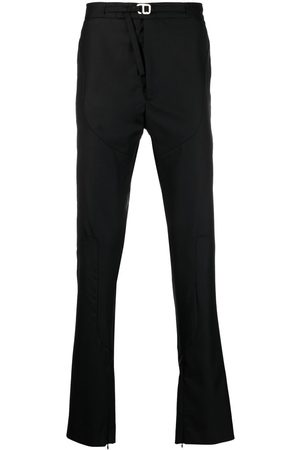 HELIOT EMIL Buckled straight-leg trousers