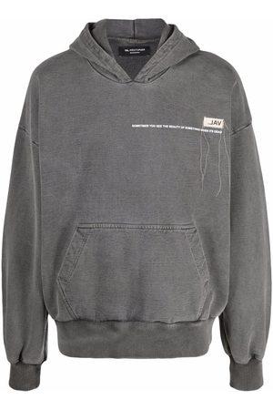 VAL KRISTOPHER Logo-print pullover hoodie - Grey