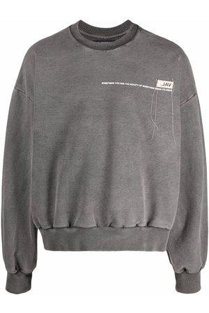 VAL KRISTOPHER Logo-print sweatshirt - Grey