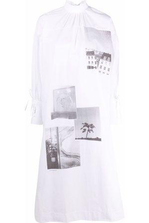 Ganni Graphic print shirt dress