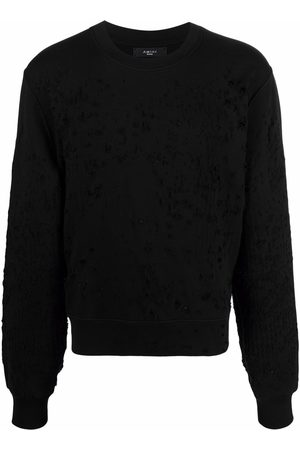 AMIRI Men Sweatshirts - Distressed-effect cotton sweatshirt