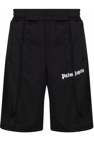 Palm Angels Logo-print track shorts