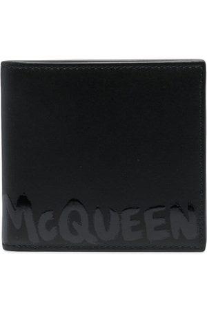 Alexander McQueen Graffiti-logo leather wallet