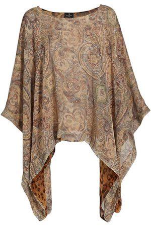 Etro Women Ponchos & Capes - Women's Solisia Reversible Silk Poncho - Multi