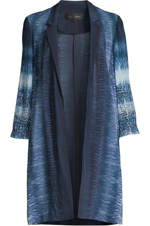 Kobi Halperin Women's Adi Mixed-Print Longline Coat - Multi - Size XXL
