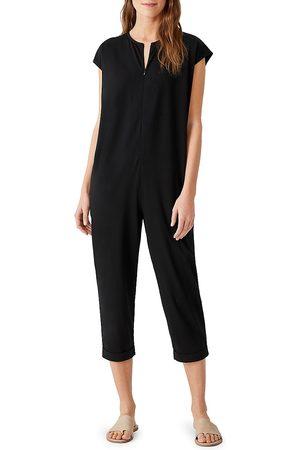 Eileen Fisher Women's Cropped Jumpsuit - - Size Medium