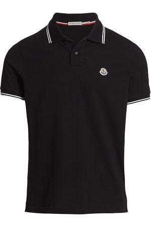 Moncler Men Polo Shirts - Men's Striped Trim Polo Shirt - - Size XXXL
