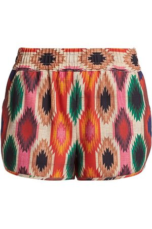 ALICE+OLIVIA Women's Kir Print Running Shorts - Warm Breeze - Size Small