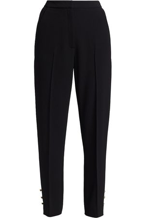 LELA ROSE Women's Rose Buttoned Fluid Crepe Demi Pants - - Size 6