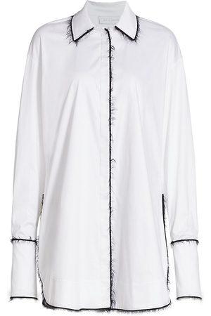 Marina Moscone Women's Alex Mohair-Trimmed Shirt - - Size 12