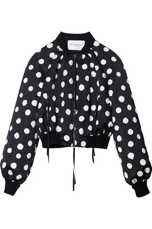 Carolina Herrera Women's Polka Dot Bomber Jacket - - Size 2