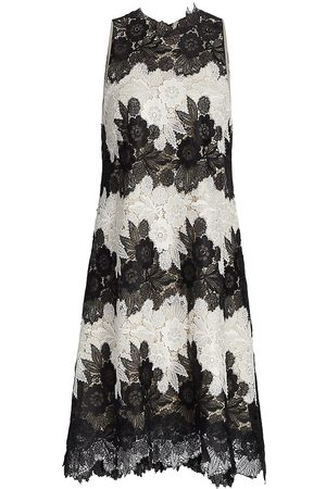 LELA ROSE Women's Floral Guipure Lace Shift Dress - Ivory - Size 4