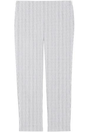 THEORY Women's Treeca Rail Cotton Pants - Grey - Size 6