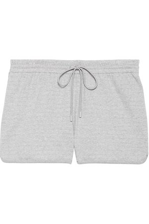 THEORY Women's Striped Pull On Shorts - Ivory Multi - Size Large