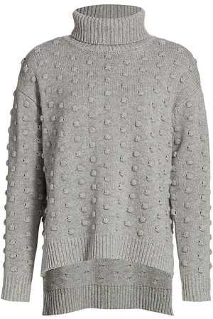 LELA ROSE Women's Dotted Turtleneck - Grey - Size Small