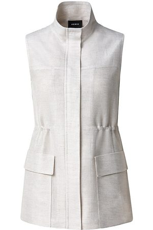 AKRIS Women's Drawstring Vest - Grey - Size 14