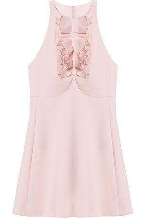 Carolina Herrera Women's Sleeveless Ruffle-Detail Mini Dress - Lotus - Size 8