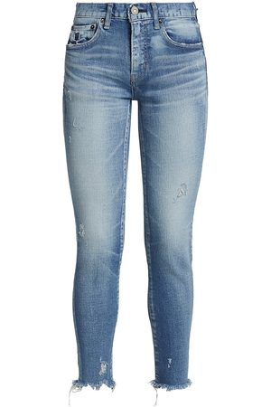 Moussy Women Skinny - Women's Diana Distressed Skinny Crop Jeans - Light - Size 30