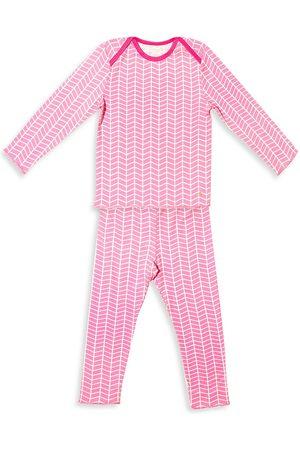 Egg New York Baby's, Little Girl's & Girl's Tegan 2-Piece Chevron Striped Long-Sleeve Pajama Set - Fuschia - Size 6