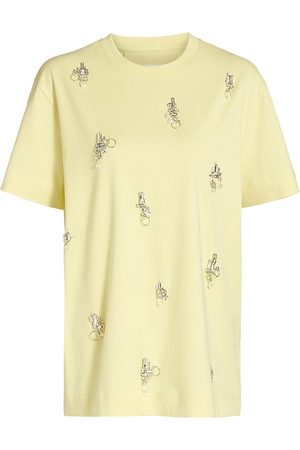 Givenchy Women's Embellished T-Shirt - Lemonade - Size Large