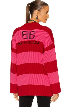 Balenciaga Long Sleeve Crew Neck Sweater in