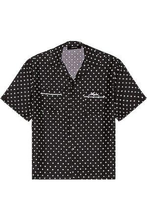 AMIRI Men Short sleeves - Polka Dots Short Sleeve Shirt in