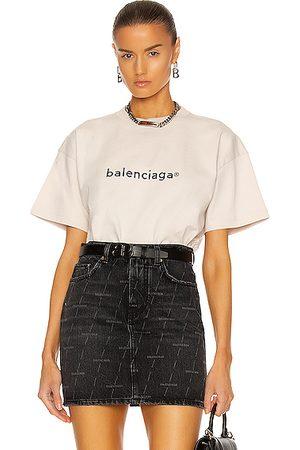 Balenciaga Medium Fit T Shirt in Grey