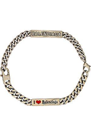 Balenciaga Men Necklaces - Plate Choker in Metallic