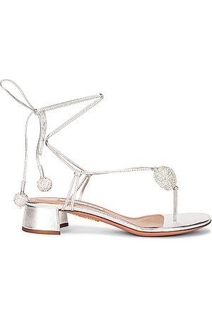 Aquazzura Women Heels - Jackie 30 Sandal in Metallic
