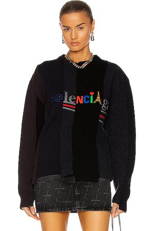 Balenciaga Women Hoodies - Long Sleeve Crew Neck Sweater in